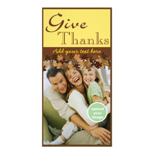 Dé las gracias tarjetas con fotos personalizadas