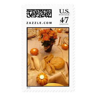 Dé las gracias timbres postales