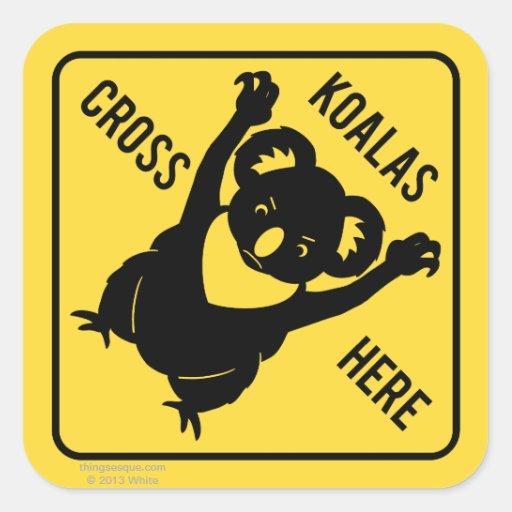 De las koalas de la cruz pegatina aquí