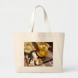 De las manzanas de ajo todavía de los clavos vida bolsa tela grande