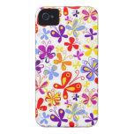 De las mariposas caso del iPhone 4/4S a montones Case-Mate iPhone 4 Carcasa