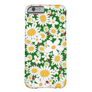® de las mariquitas de las margaritas blancas del funda para iPhone 6 barely there