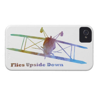 """De las """"moscas biplano upside-down"""" iPhone 4 cárcasa"""