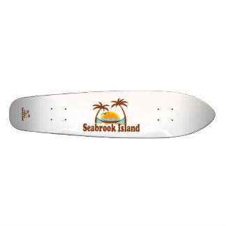 """De las palmeras de la isla de Seabrook diseño de """" Skate Board"""