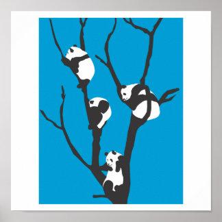 De las pandas de Hangin poster hacia fuera Póster
