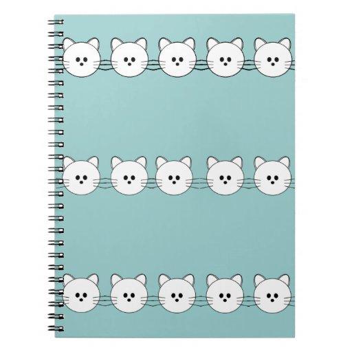 """De las patas cuaderno """"gatito """" aquí"""