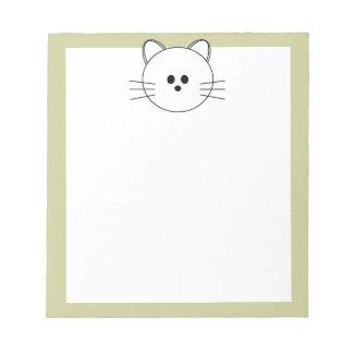"""De las patas libreta """"gatito """" aquí bloc de notas"""