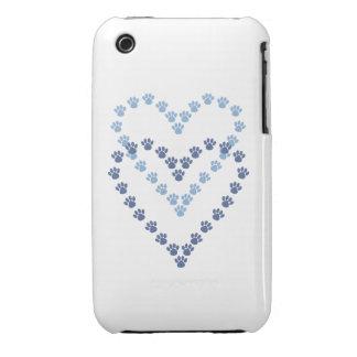 De las patas pata en forma de corazón Prin del cas iPhone 3 Case-Mate Cárcasa