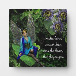 """De las """"placa de hadas hadas de la flor"""" del pavo  placas de plastico"""