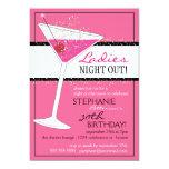 De las señoras de la noche celebración rosada del anuncio personalizado