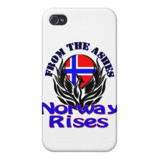 De las subidas de Noruega de las cenizas iPhone 4 Protector