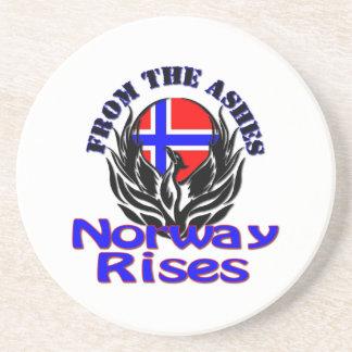 De las subidas de Noruega de las cenizas Posavasos Para Bebidas