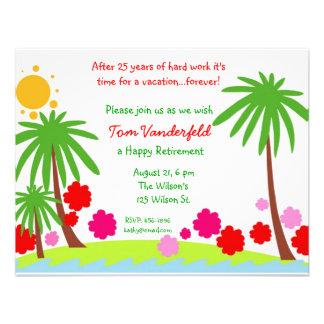 De las vacaciones invitación del fiesta de retiro