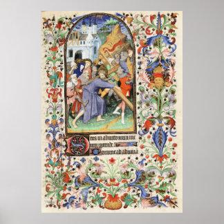 De Levis Book de horas, ejemplo 13 Póster