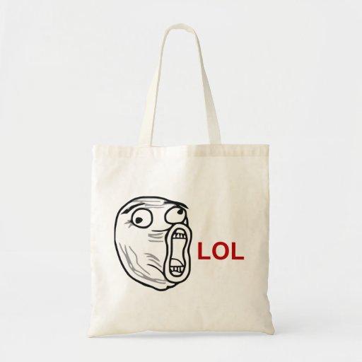 De LOL de la risa cara ruidosa Meme de la rabia ha Bolsas