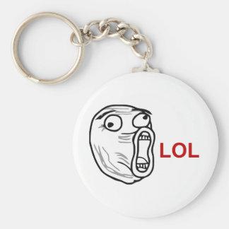 De LOL de la risa cara ruidosa Meme de la rabia ha Llavero Redondo Tipo Pin