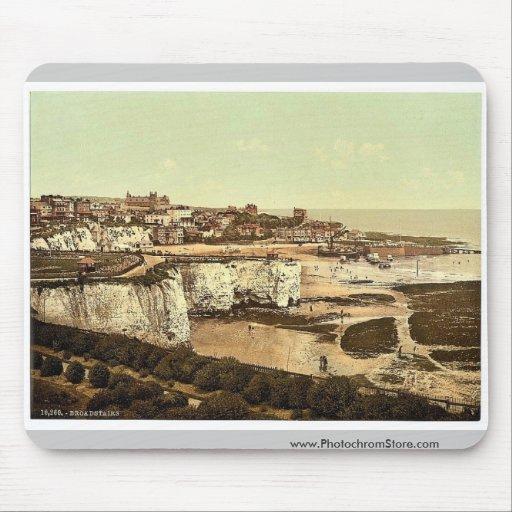 De los acantilados, Broadstairs, vintage Phot de I Alfombrilla De Raton