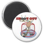 De los alces del hockey del lanzamiento camisetas  imán de frigorifico
