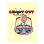 De los alces del hockey del lanzamiento camisetas postal