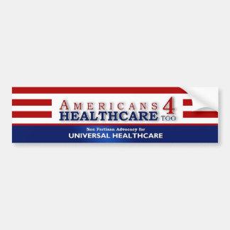 De los americanos 4 de la atención sanitaria pegat pegatina para auto