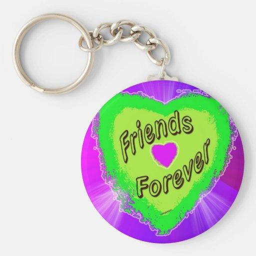 De los amigos corazón verde para siempre llavero personalizado
