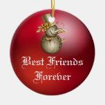 De los amigos ornamento del navidad del corazón pa ornamento para reyes magos