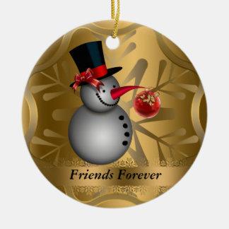 De los amigos ornamento del navidad para siempre ornamentos para reyes magos