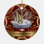 De los amigos ornamento del navidad para siempre ornamento de reyes magos