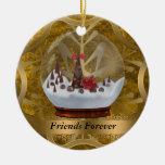 De los amigos ornamento del navidad para siempre adorno