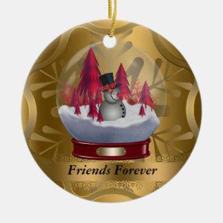 De los amigos ornamento del navidad para siempre ornatos
