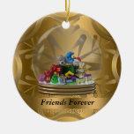 De los amigos ornamento del navidad para siempre ornamentos de navidad