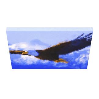 De los arte de la pared de la lona OJOS de EAGLE Impresión En Lona Estirada