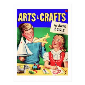 De los artes del niño del vintage del kitsch libro postales