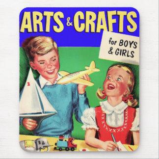 De los artes del niño del vintage del kitsch libro tapete de ratón