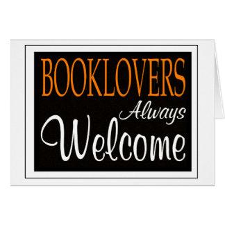 De los Booklovers signo positivo siempre Tarjeta De Felicitación