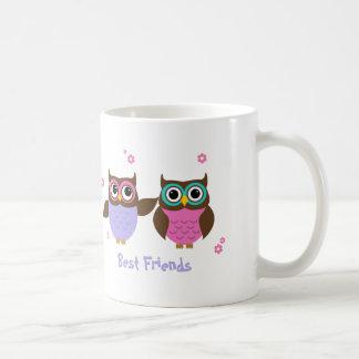 De los búhos de los mejores amigos tazas lindas