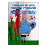 De los Cardiff Blues del fanático tarjeta de cumpl