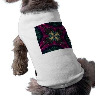De los chicas de la noche caleidoscopio de la boa  camiseta de perrito