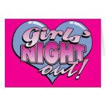 De los chicas de la noche fiesta de Bachelorette h Tarjetas