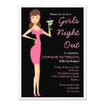 De los chicas de la noche fiesta de cumpleaños de comunicado personal
