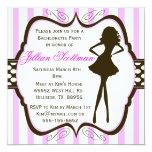 De los chicas de la noche invitación del fiesta de invitación 13,3 cm x 13,3cm