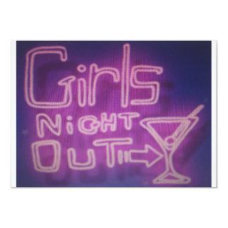 De los chicas de la noche invitación hacia fuera