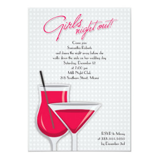 De los chicas de la noche invitación plana hacia