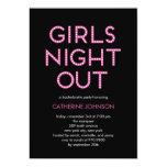 De los chicas de la noche invitaciones del fiesta comunicado