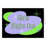 De los chicas de la noche invitaciones hacia fuera felicitaciones