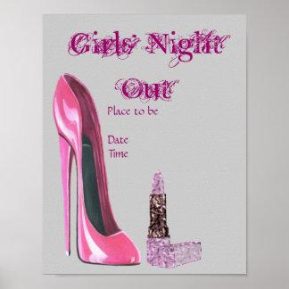 De los chicas de la noche poster hacia fuera
