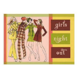 De los chicas de la noche vintage 70s hacia fuera comunicado personal