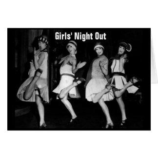 De los chicas inestimables del vintage de la noche tarjeta de felicitación