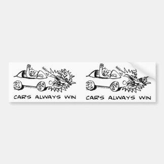 De los coches triunfo siempre etiqueta de parachoque