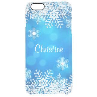 De los copos de nieve caso más del iPhone 6 Funda Clearly™ Deflector Para iPhone 6 Plus De Unc